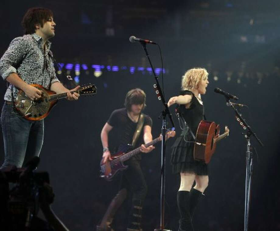 The Band Perry performs at RodeoHouston on March 14. (James Nielsen / Chronicle)