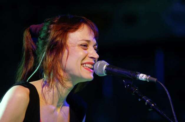 Fiona Apple performs at the NPR showcase during SXSW in Austin on Wednesday, March 14, 2012. Photo: Jack Plunkett, Associated Press