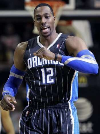 Dwight Howard takes the floor as the Spurs play the Orlando Magic at the AT&T Center  on March 14, 2012  Tom Reel/ San Antonio Express-News (TOM REEL / San Antonio Express-News)