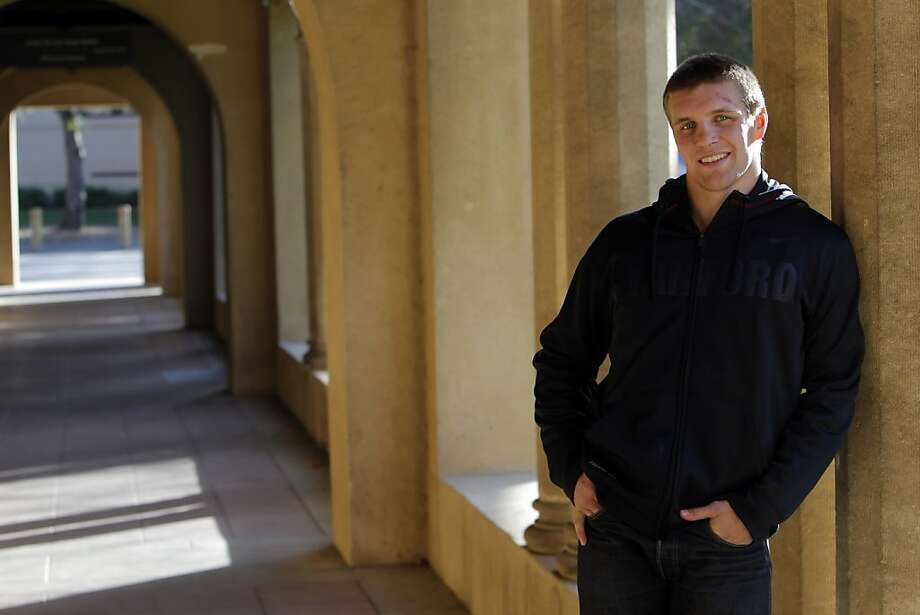 Stanford's Nick Amuchastegui, seen here on campus on Monday, February 27, 2012, is ranked No. 1 in the nation at 174 pounds and could be Stanford's first national champion in 15 years. He's also a mechanical engineering major with a 4.0 gpa. Photo: Carlos Avila Gonzalez, The Chronicle
