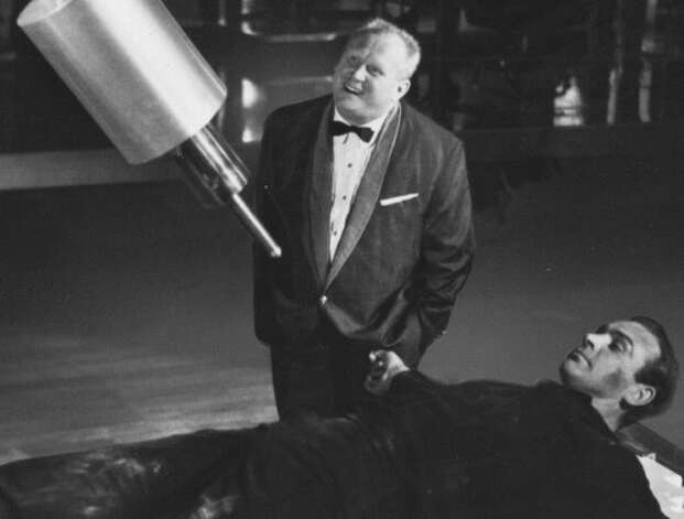 "Gert Frobe (and Sean Connery) in ""Goldfinger"":  These master villains would be more effective if they stuck around. (Handout)"