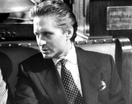 "Michael Douglas in the 1987 film  ""Wall Street,"" his best known role. (Twentieth Century Fox)"