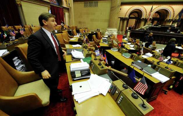 Assemblyman Donald Miller, R-Clay, was one of the last lawmakers to leave the Assembly chamber   (Skip Dickstein / Times Union) Photo: SKIP DICKSTEIN