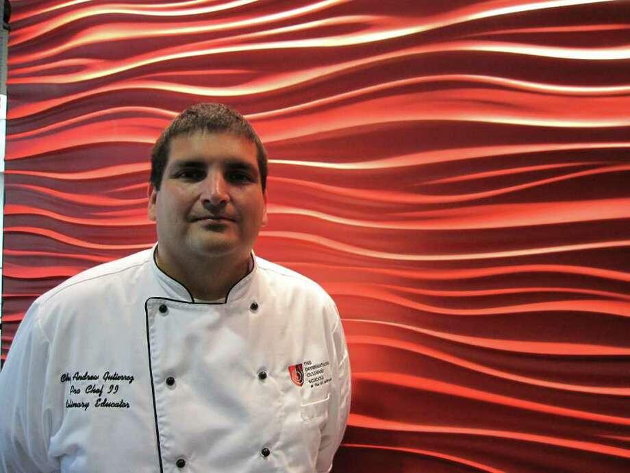 Andrew Gutierrez, instructor at the AI Culinary. Photo: Jessica Elizarraras