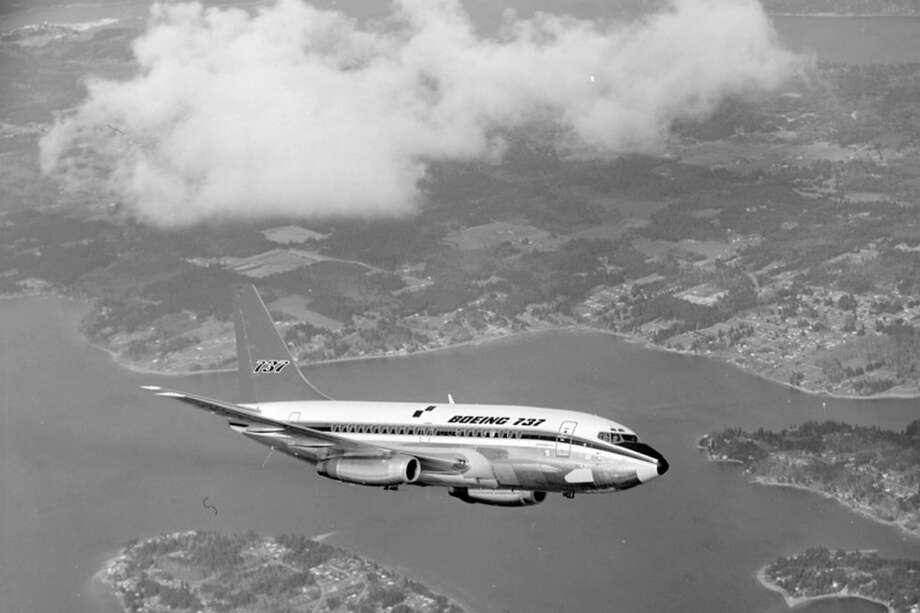 Boeing's first production 737 is shown in flight. It first flew on April 9, 1967. Photo: NASA/Museum Of Flight