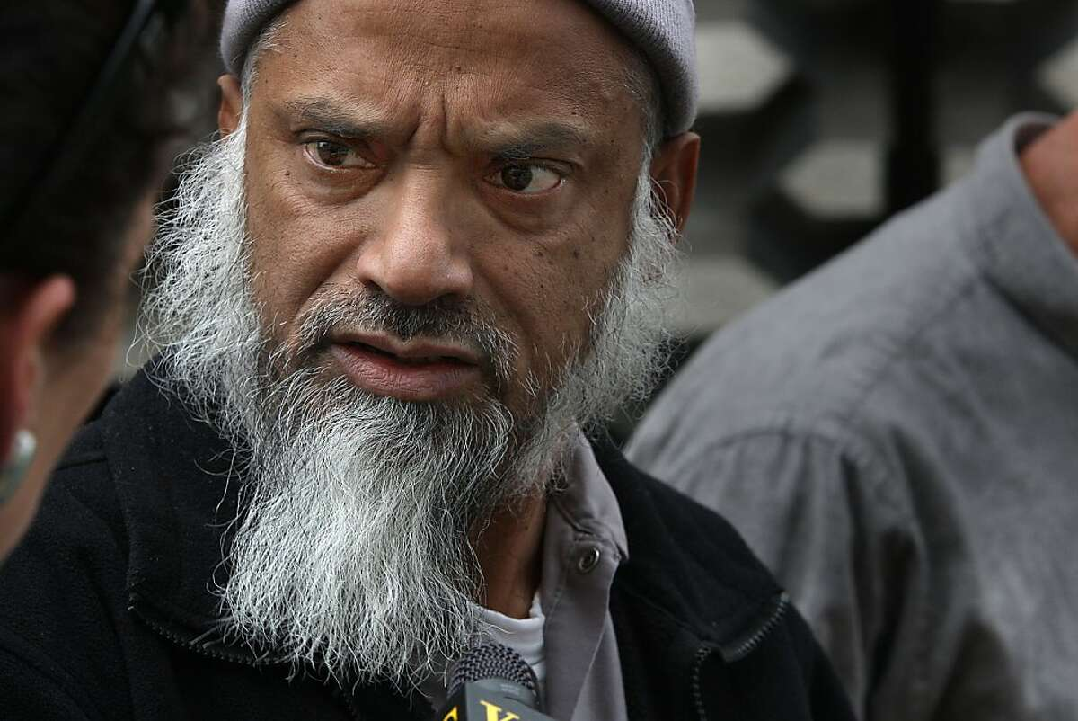 The father of Mohammed Haroon Ali comments to press in front of the courthouse in Redwood City, Calif., on Thursday, March 15, 2012. His son Mohammed Haroon Ali, 36, was found guilty for strangling his girlfriend Tracey Biletnikoff in February 1999. Tracey was the daughter of former Oakland Raider great Fred Biletnikoff. Mohammed had shaken the hand of Fred Biletnikoff after the verdict.