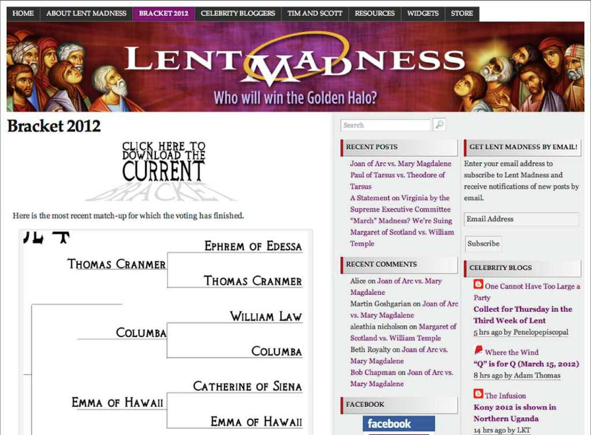 """The Episcopal competition, """"Lent Madness"""" takes elements from college basketball's March Madness to let parishioners have a bit of fun with religion."""