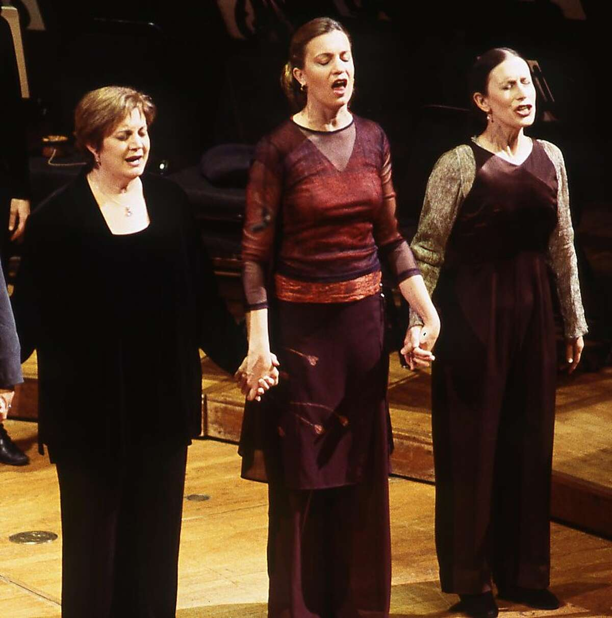Meredith Monk (far right) performing on American Mavs 2000