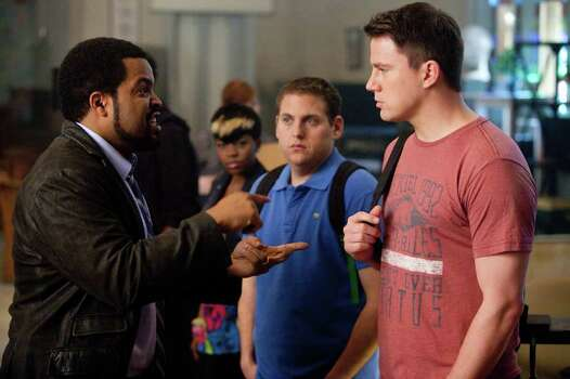 "Scott Garfield/Columbia Pictures L-r, Ice Cube, Jonah Hill and Channing Tatum star in Columbia Pictures' action comedy ""21 Jump Street."" Photo: Scott Garfield / © 2011 Columbia TriStar Marketing Group, Inc.  All Rights Reserved. **ALL IMAGES ARE PROPERTY OF SONY PICTURES ENTERTAINMENT INC. FOR PROMOTIONAL USE ONLY.  SALE, DUPLICATION OR TRANSFER OF THIS MATERIAL IS STRICTLY PROHIBITED."