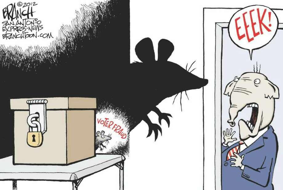 John Branch editorial cartoon voter fraud
