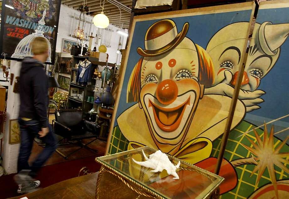 """Stuff"", a store on Valencia Street has aisles of eye catching home decor. An area of San Francisco's Mission district around Valencia Street yields some exciting furniture and decor stores all within walking distance of each other. Photo: Brant Ward, The Chronicle"