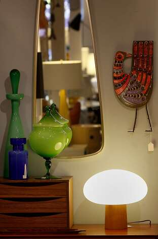 A collection of colorful home decor items at Monument. An area of San Francisco's Mission district around Valencia Street yields some exciting furniture and decor stores all within walking distance of each other. Photo: Brant Ward, The Chronicle