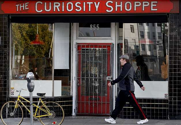 The Curiosity Shoppe in the 800 block of Valencia Street. An area of San Francisco's Mission district around Valencia Street yields some exciting furniture and decor stores all within walking distance of each other. Photo: Brant Ward, The Chronicle