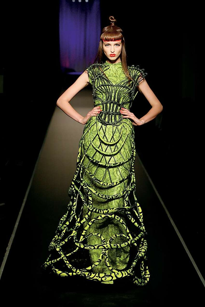 Jean Paul Gaultier. Cages collection, Calligraphie gown haute couture fall/winter 2008-2009.