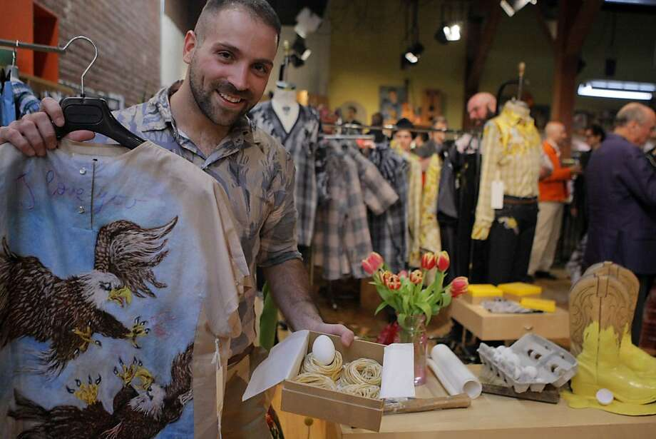 Andrea Cammarosano, fashion designer, poses for a photo during the exhibition of his Spring Summer collection at Modern Appealing Clothing store in San Francisco, Calif. on Friday, March 9, 2012 Photo: Erik Verduzco, The Chronicle