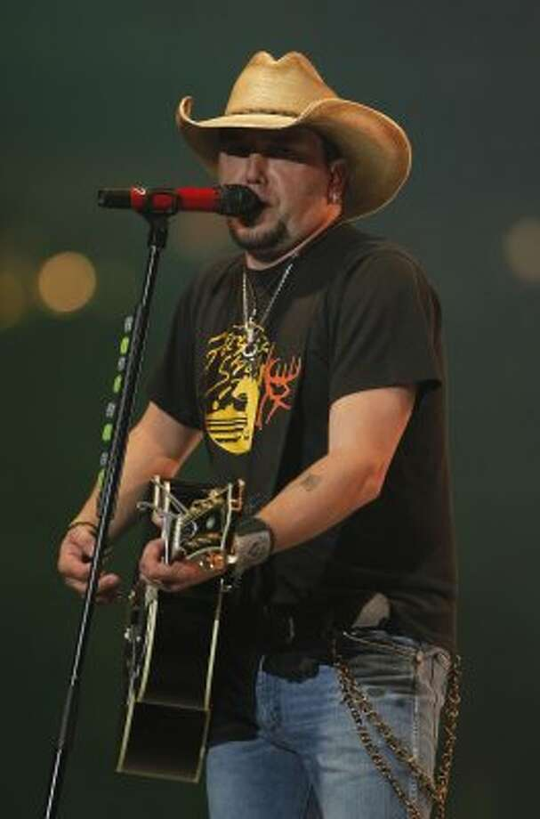 Jason Aldean performs at RodeoHouston on March 15. (James Nielsen / Chronicle)