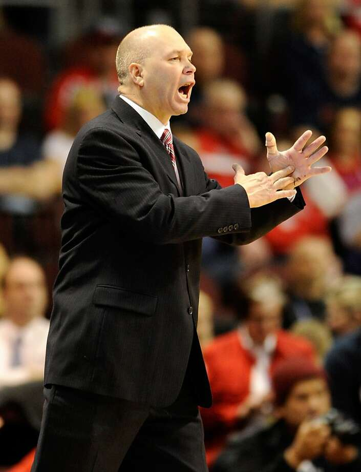 Head coach Randy Bennett of the Saint Mary's Gaels gestures as his team takes on the San Francisco Dons during a semifinal game of the Zappos.com West Coast Conference Basketball tournament at the Orleans Arena March 3, 2012 in Las Vegas, Nevada. Saint Mary's won 83-78. Photo: Ethan Miller, Getty Images