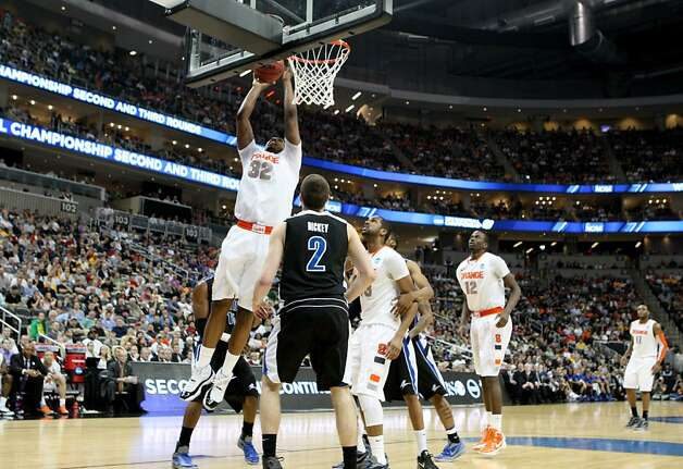 Syracuse's Kris Joseph shoots against UNC Asheville during the second round of the NCAA Men's Basketball Tournament at Consol Energy Center in Pittsburgh, Pennsylvania, Thursday, March 15, 2012. The Syracuse Orange defeated the University of North Carolina Asheville Bulldogs, 72-65. (Jaime Green/Wichita Eagle/MCT) Photo: Jaime Green, McClatchy-Tribune News Service