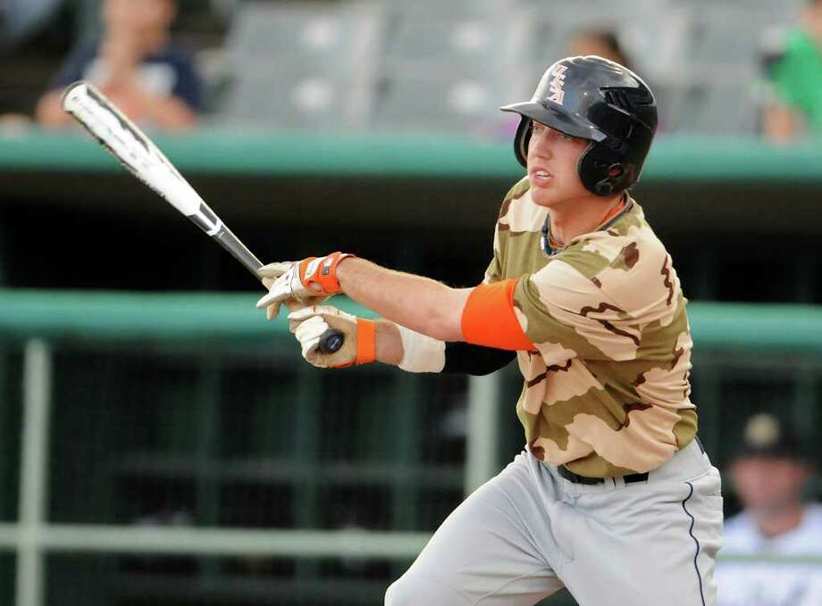 UTSA left fielder Riley Good, who leads all sophomores in Division I with 114 career hits, isn't worried about only two hits in his last 17 at-bats. Photo: John Albright, For The Express-News