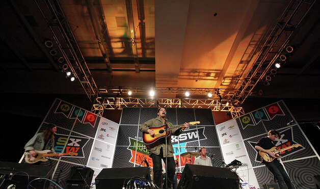 Delta Spirit from San Diego, Calif., performs during South by Southwest on March 15, 2012, at the Austin Convention Center. Photo: EDWARD A. ORNELAS, Edward A. Ornelas/Express-News / © SAN ANTONIO EXPRESS-NEWS (NFS)
