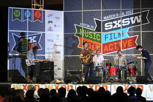Delta Spirit, from San Diego, Calif., performs  during South by Southwest on March 15, 2012, at the Austin Convention Center. Photo: EDWARD A. ORNELAS, Edward A. Ornelas/Express-News / © SAN ANTONIO EXPRESS-NEWS (NFS)