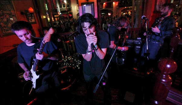 The Suicide Bitches, from Santiago, Chile, perform at BD Riley's during South by Southwest on March 16, 2012, in Austin. Photo: EDWARD A. ORNELAS, Edward A. Ornelas/Express-News / © SAN ANTONIO EXPRESS-NEWS (NFS)