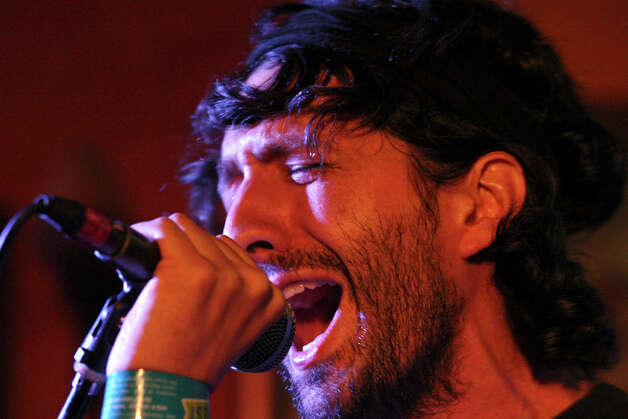 The Suicide Bitches' Felipe Arriagada, from Santiago, Chile, performs with the band during South by Southwest on March 16, 2012, in Austin. Photo: EDWARD A. ORNELAS, Edward A. Ornelas/Express-News / © SAN ANTONIO EXPRESS-NEWS (NFS)
