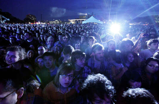 Fans watch The Shins perform during South by Southwest on March 15, 2012, in Austin. Photo: EDWARD A. ORNELAS, Edward A. Ornelas/Express-News / © SAN ANTONIO EXPRESS-NEWS (NFS)