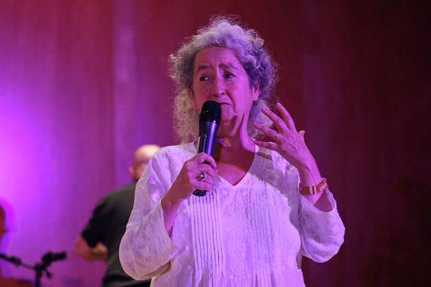Woody Guthrie's daughter Nora Guthrie speaks during a tribute, part of South by Southwest on March 15, 2012, in Austin. Photo: EDWARD A. ORNELAS, Edward A. Ornelas/Express-News / © SAN ANTONIO EXPRESS-NEWS (NFS)