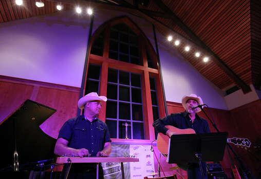 Eddie Rivers (left) performs with Ray Benson at St. David's Church during South by Southwest on March 15, 2012, in Austin. Photo: EDWARD A. ORNELAS, Edward A. Ornelas/Express-News / © SAN ANTONIO EXPRESS-NEWS (NFS)