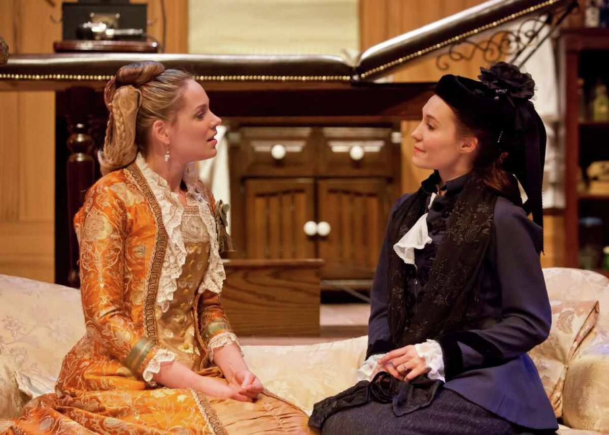 IN THE NEXT ROOM at Stages - Tracie Thomason (Mrs. Givings), Kristin Warren (Mrs. Daldry)