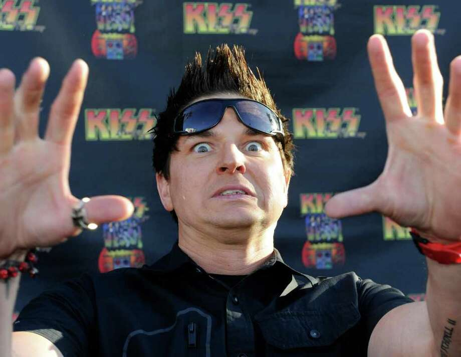 "LAS VEGAS, NV - MARCH 15:  Zak Bagans from the television show, ""Ghost Adventures"" arrives at the grand opening of the KISS by Monster Mini Golf amusement attraction on March 15, 2012 in Las Vegas, Nevada. Photo: Ethan Miller, Getty Images / 2012 Getty Images"