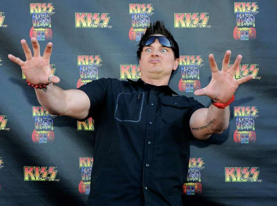 "Zak Bagans from the television show, ""Ghost Adventures"" arrives at the grand opening of the KISS by Monster Mini Golf amusement attraction on March 15, 2012 in Las Vegas, Nevada. Photo: Ethan Miller, Getty Images / 2012 Getty Images"