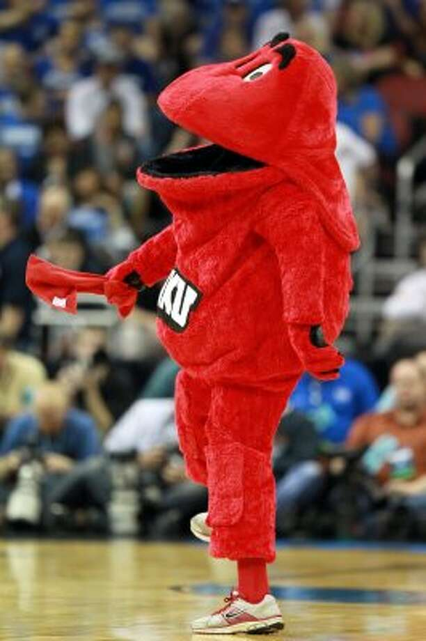 Big Red, the Western Kentucky Hilltoppers mascot, is a big red blob. Guess it was too hard to literalize a Hilltopper.