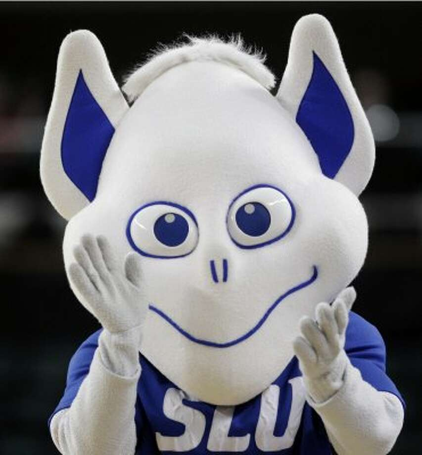 Our pick for the scariest mascot of all time. Once the Saint Louis Billiken looks into your soul, no amount of scrubbing can remove the image from your eyeballs. (Mel Evans / Associated Press)