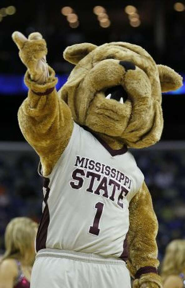 Mississippi State's Bully the bulldog has a lot more jowls. (Bill Haber / Associated Press)