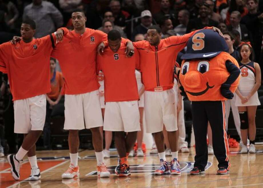 Syracuse is known as the orange. Its mascot is an orange. Simple as that. (Seth Wenig / Associated Press)