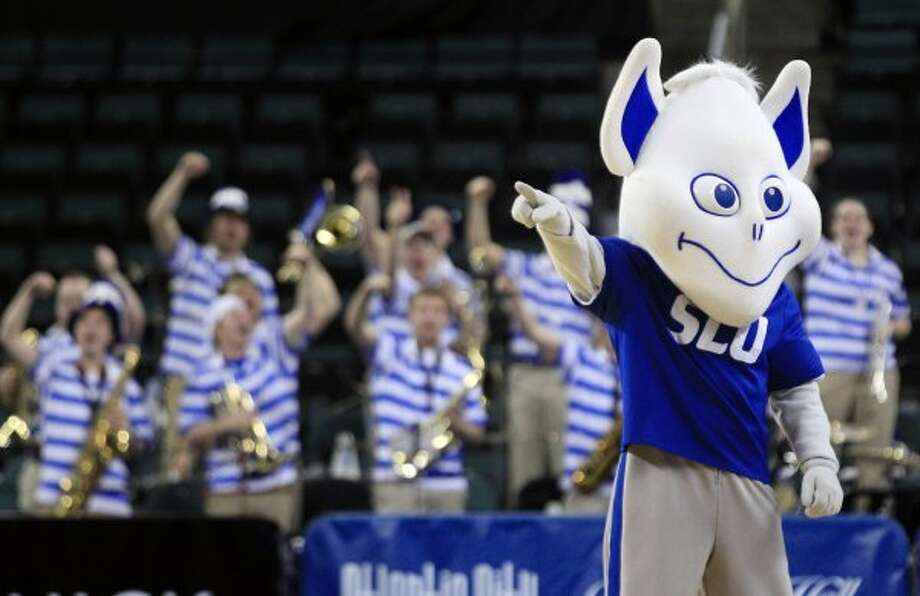 Our pick for the scariest mascot/anything of all time. Once the Saint Louis Billiken looks into your soul, no amount of scrubbing can remove the image from your eyeballs. (Mel Evans / Associated Press)