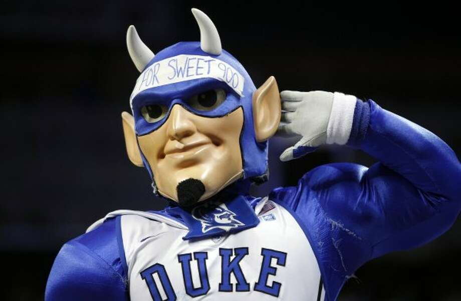 The Blue Devil is the perfect mascot for the most hated team in college basketball. (Chuck Burton / Associated Press)
