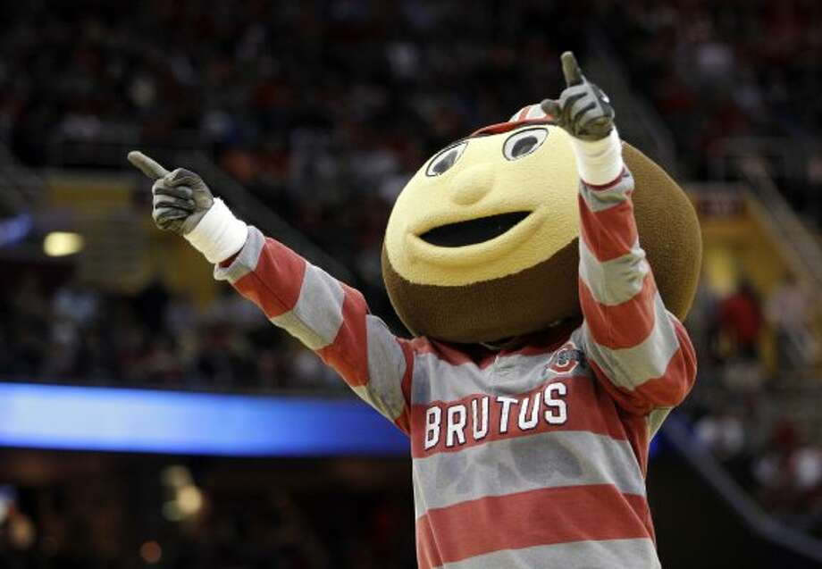 We wonder if Ohio State's Brutus the Buckeye was up to no good on the Ides of March. (Tony Dejak / Associated Press)