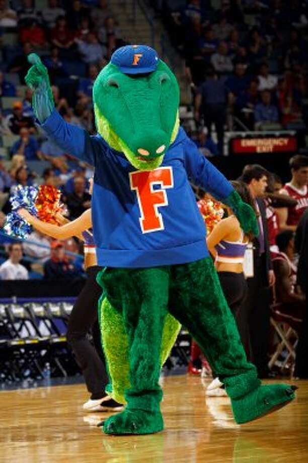 The best part of Florida Gators mascot Albert is his cute little hat. (Chris Graythen / Getty Images)
