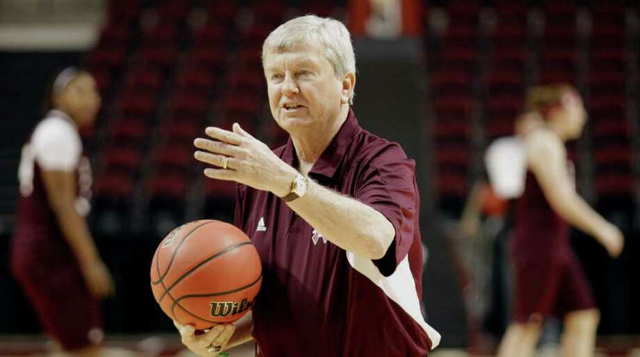 Gary Blair, 66, is showing no signs of slowing down after leading the Aggies to their first national title in basketball last season. Photo: AP