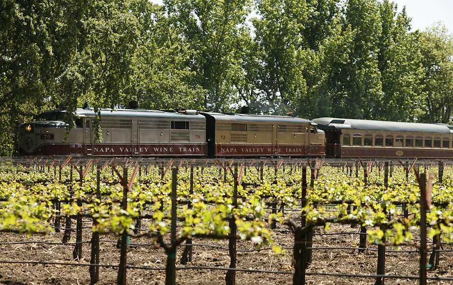 Mike Grgich, owner and winemaker of Grgich Hills Cellar likes to meet the Wine Train when it arrives, usually at 1 p.m. Photo of the Wine Train on its way to stop at the winery. Photo: Craig Lee, The Chronicle 2007