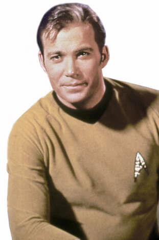 William Shatner as Captain Kirk of 'Star Trek.' / handout slide