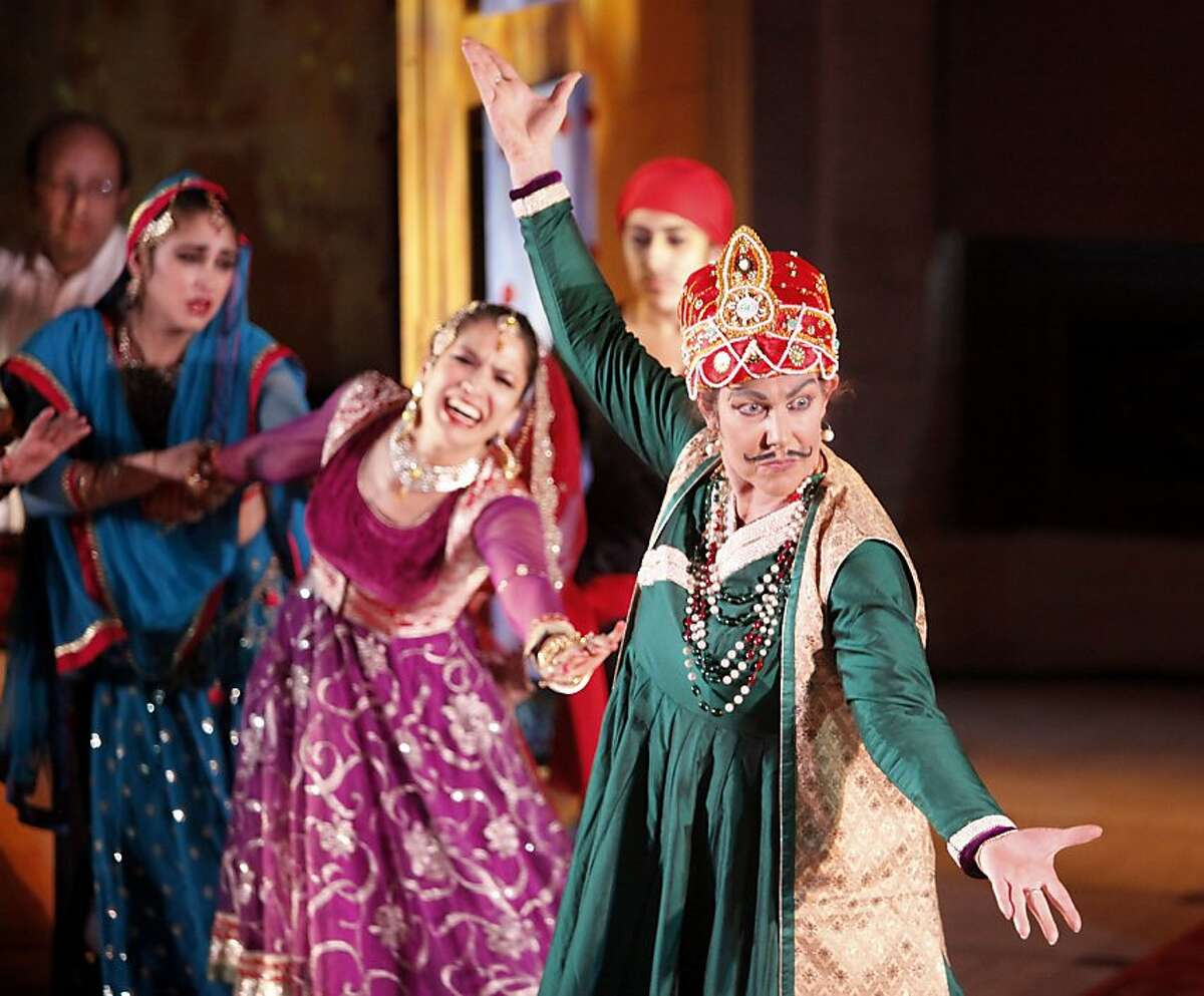 The King, played by Charlotte Moraga, and Indian General (not seen) fight in the last scene, while the Queen,played by Rachna Nivas, is held back from the battle. The Chitresh Das Dance Company, with the help of kathak master Pandit Chitresh Das, present the world premiere of Darbar, a story about the search for freedom in India while under British rule. The dance can be seen at the Asian Arts Museum in San Francisco.