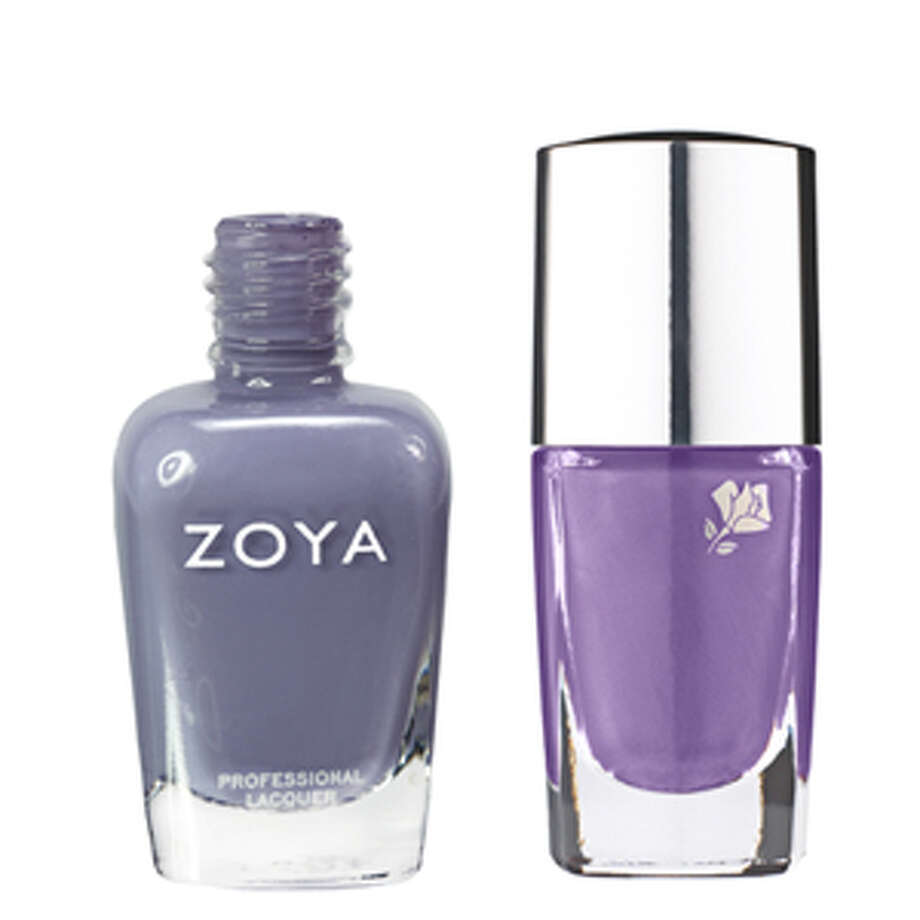 """Lovely in Lilac<p>Lavender is one of the top spring makeup trends, so naturally we'd want to wear it on our nails too. <em>Caitlin</em> (left) is a creamy gray-violet that's fashion-forward and trendy, yet still subtle enough to wear to the office. But if you're on the search for a true purple, opt for <em>Violet Groove</em> (right), one of the most-sought-after colors this season.</p><p></p><p>Zoya Professional Nail Polish in Caitlin, $8; <a href=""""http://www.zoya.com/content/38/category/Zoya_Intimate_Spring2011_NailPolish_Collection.html"""" target=""""_blank"""">zoya.com</a></p><p>Lancôme Le Vernis in Violet Groove, $19; <a href=""""http://www.lancome-usa.com/Le-Vernis/1000293,default,pd.html?dwvar_1000293_color=Violet%20Groove&start=6&cgid=whatsnew-ultralavande"""" target=""""_blank"""">lancome-usa.com</a></p> Courtesy of Zoya and Lancome"""