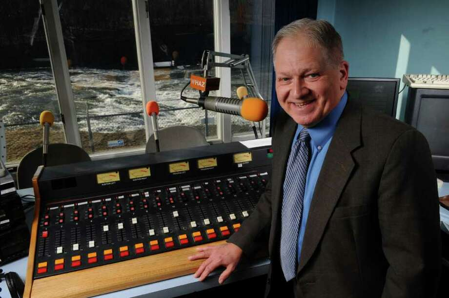 Paul Lotters, Owner and President of ALIVE Radio, a Christian radio network, stands in the studio of WHAZ by the shores of the Mohawk River, on Wednesday March 14, 2012 in Cohoes, N.Y.  (Philip Kamrass / Times Union ) Photo: Philip Kamrass / 00016839A