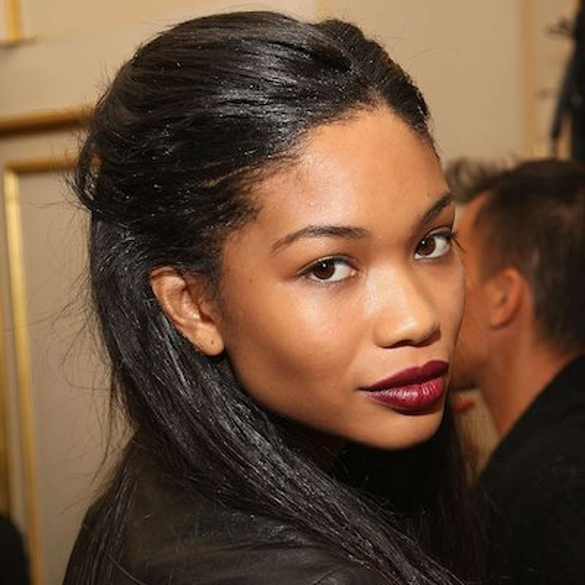 Chanel Iman backstage at Jason Wu during Mercedes-Benz Fashion Week Spring 2010 at St. Regis Hotel on September 11, 2009 in New York City. Mercedes-Benz Fashion Week Spring 2010 - Jason Wu - Front Row And Backstage St. Regis Hotel New York, NY United States September 11, 2009 Photo by Theo Wargo/WireImage.com To license this image (16945496), contact WireImage.com