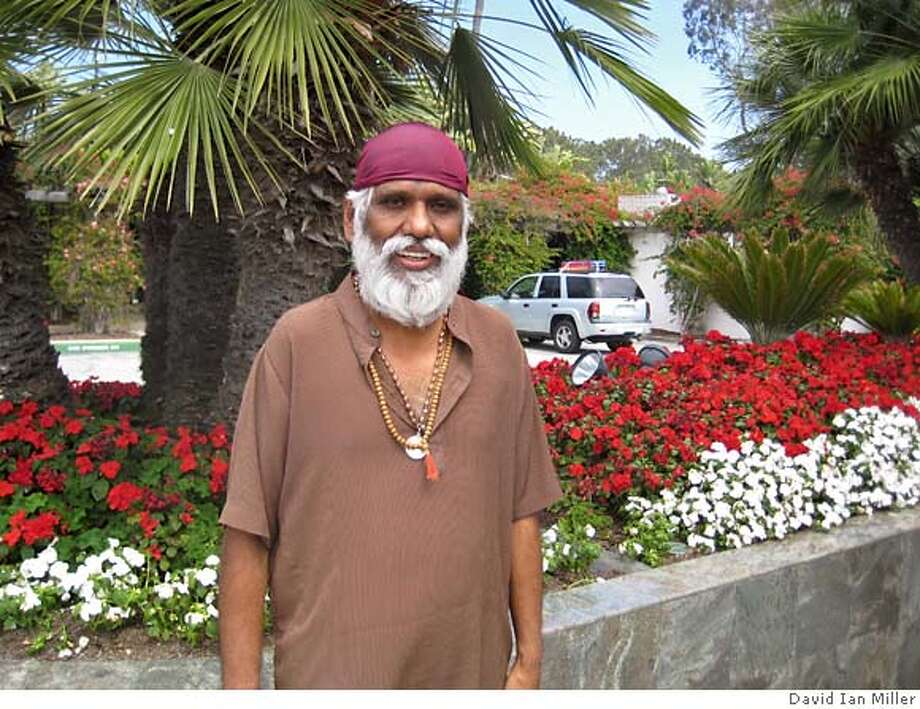 Here's a photo of my subject for Monday's FMR. The man is Dattatreya Siva Baba. He's the Indian mystic and teacher I told you about last time we talked. The photo was taken in San Diego. Photo credit - David Ian Miller.