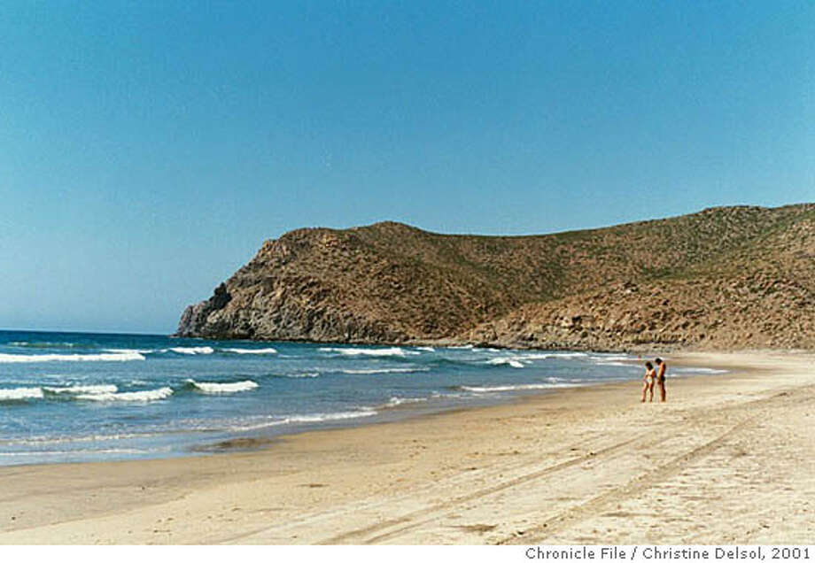 TODOS SANTOS, Baja California Sur, Mexico -- A string of uncrowded beaches lies a mile or two from the pueblo of Todos Santos.  Christine Delsol / The Chronicle 2001 Photo: Christine Delsol